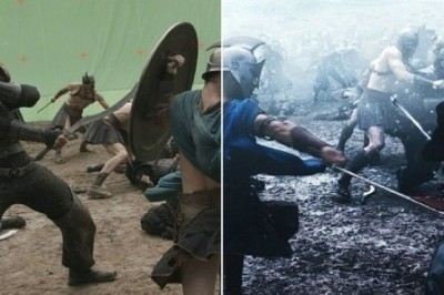 23 Famous Movie Scenes Before and After CGI Effects