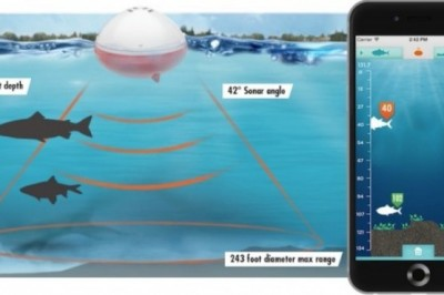 iBobber a smartphone connected to a sonar helping fishermen