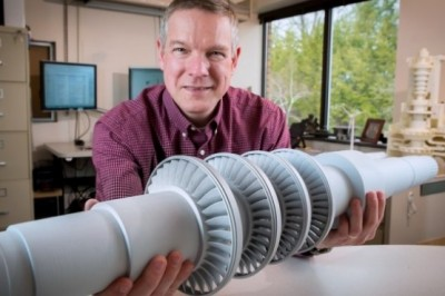 This turbine is the size of a desk, but is able to power 10,000 homes