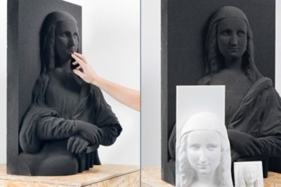 Mona Lisa recreated in 3D for the blind people that can appreciate